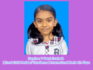 Kanchan V Patel Grade IA [ Zonal Gold Medal of Excellence ] International Rank 4th Place